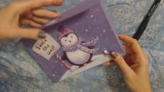 ASMR ~ Addressing Christmas Cards / Paper Sounds / Soft Spoken