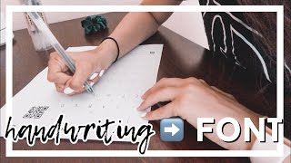 How To Turn Your Handwriting Into A Font | Somya Bhatia
