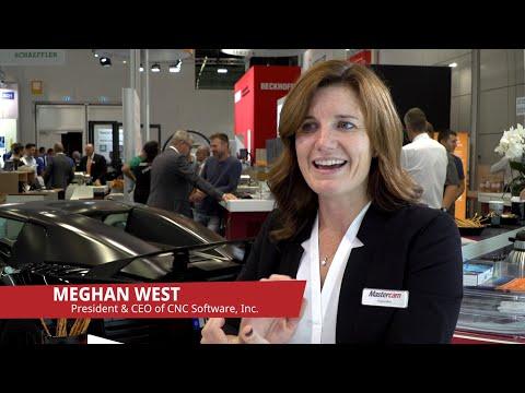 Mastercam: Meghan West zu Besuch auf der AMB 2018