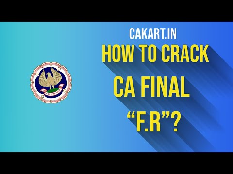 How to crack ca final Financial Reporting