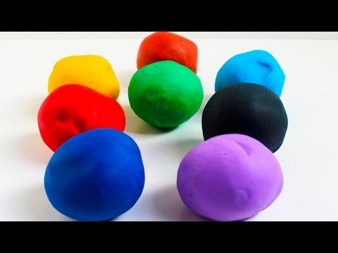 Colores con Play Doh Plastilina Figuras de Animales Juegos creativos para niños