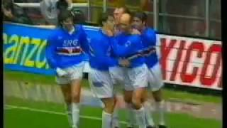 Sampdoria Vrs AC Milan 1993 English Commentary Mancini,Gullit,Savicevic,Baresi