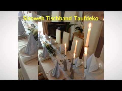 Tischband und Tischläufer mit Deko-Beispielen