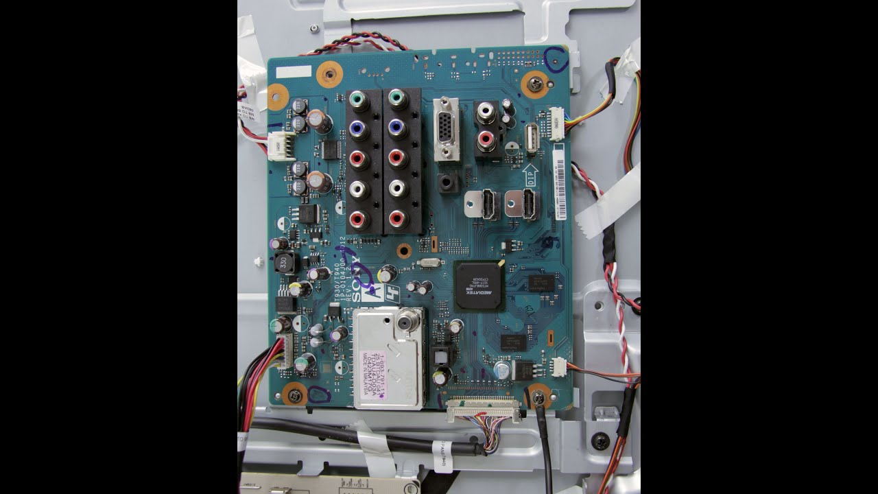 Lcd Tv Repair Has Audio No Video Common Main Board Symptoms Case Front Panel To Motherboard Wiring Solved Fixya Solutions