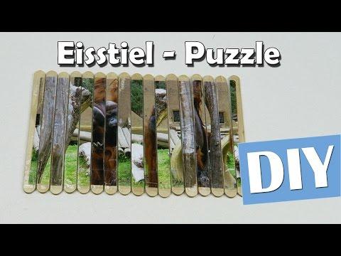 Eisstiel Puzzle selber machen - DIY | Anleitung