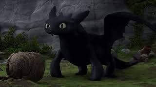 How to Train Your Dragon 2010 In Hindi :  New Tail Scene [03]