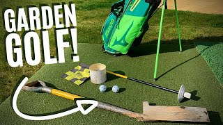 I MADE A GOLF COURSE IN MY GARDEN DURING LOCKDOWN!