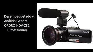 Video camara ORDRO HDV-Z82 + Lente + Microfono