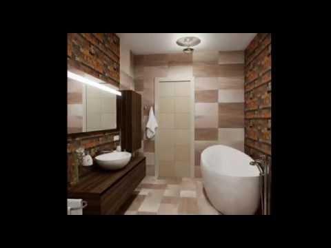 Дизайн ванной комнаты в бежево коричневом цвете