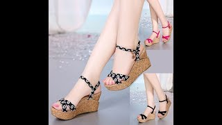 FLAT HIGH HEEL SANDALS FOR FESTIVAL,WOMENS FOOTWEAR COLLECTION,BUY ONLINE FOOTWEAR-2018,GIRLS ITEM