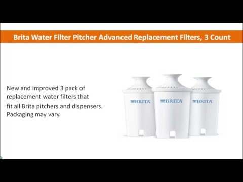 Brita Water Filter Pitcher Advanced Replacement Filters 3 Count Best Good HD