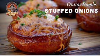 Stuffed Onion Bombs | Bacon-Wrapped Onion Bombs On Pit Boss Pellet Grill