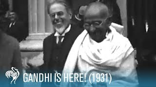 Mahatma Gandhi Arrives In The U.K. (1931) | British Pathé