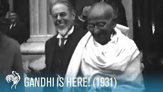 Mahatma Gandhi Arrives in the U.K. (1931) | British Pathé