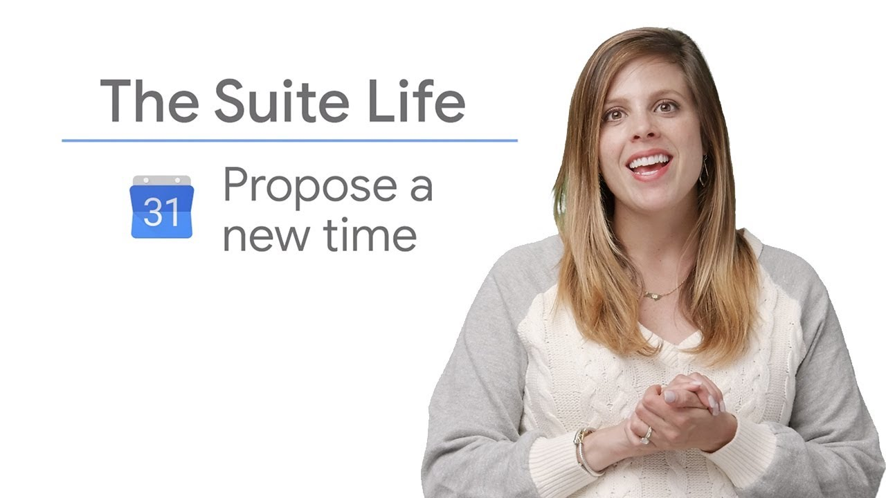 On this episode of The Suite Life, Laura Mae Martin shows how to propose a new time in Google Calendars.