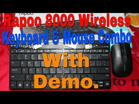 e61bbc394fe Rapoo 8000 Wireless Keyboard & Mouse Combo Unboxing With Demo How To Use In  Laptop &