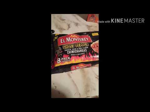 El Monterey ghost pepper chimichangas. Frozen Food review
