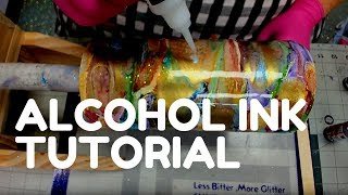 How to Apply Alcohol Inks on to Tumbler | Simple Techniques for Beginners