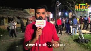Lyricist Priyan at Ayyanar Veethi Shooting Spot
