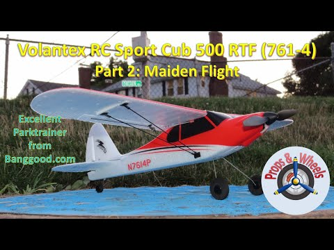 Volantex RC Sport Cub 500 RTF (761-4) from Banggood – Part 2: Maiden Flight