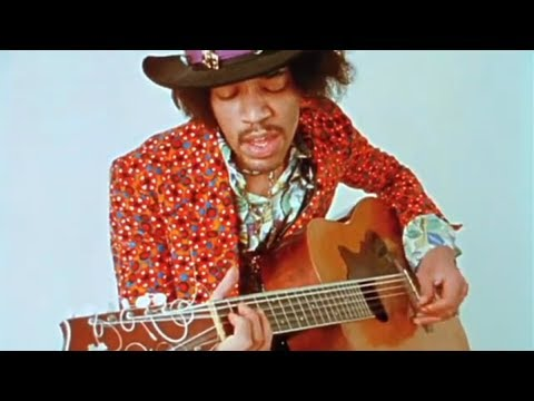 jimi hendrix on an acoustic guitar only known 2 videos rare