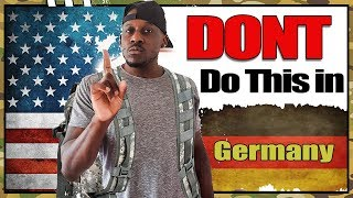 10 Dont Do's in Germany | Deutsche kultur