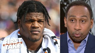 Stephen A. to the Ravens: Sit Lamar Jackson vs. the Jets if he's not 100% | First Take