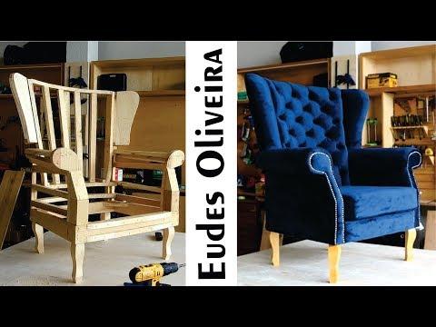 Poltrona berger capitonê / Tufted armchair