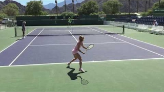 Camila Giorgi (60 fps) 2017 Indian Wells Practice 3/7/17 BNP Paribas Open