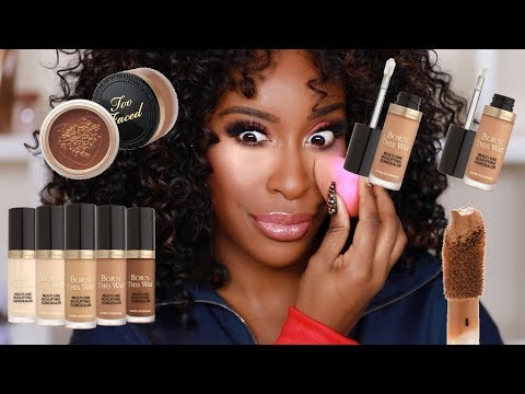 OK TOO FACED Dat's What We Doing Now!? Sculpting Concealer + Powder Review | Jackie Aina