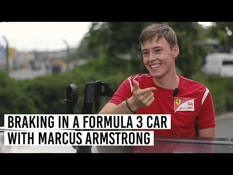 Braking in a Formula 3 car with Marcus Armstrong