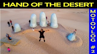 EPIC Hand of the Desert Sculpture in Uruguay