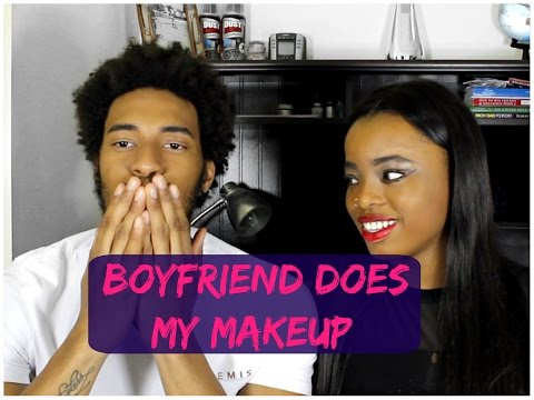 BOYFRIEND DOES MY MAKEUP CHALLENGE (TAG)
