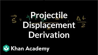 Deriving Max Projectile Displacement Given Time