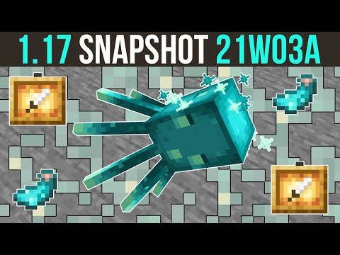 Minecraft 1.17 Snapshot 21w03a The Glow Lichen & Glow Squid... & Glowing Things!