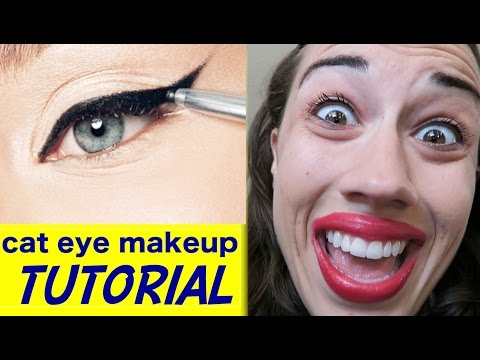 CAT EYE MAKEUP TUTORIAL!