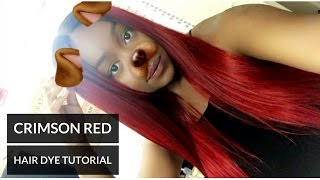 CRIMSON RED HAIR DYE TUTORIAL! | Ali Julia Brazilian Body Wave x Adore Crimson #68 Hair Color