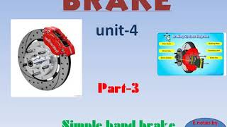 Simple band brake with numerical,part-3