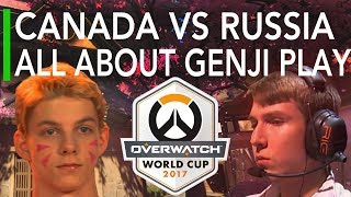 Team Canada vs Russia - All About That Genji Play | Overwatch World Cup 2017 Highlights
