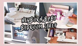 MASTER BEDROOM SETUP / TOUR FOR NEWBORN BABY | BEDSIDE NURSERY