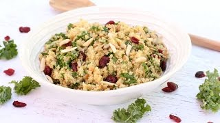 High Protein Quinoa-Kale Salad | Clean & Delicious