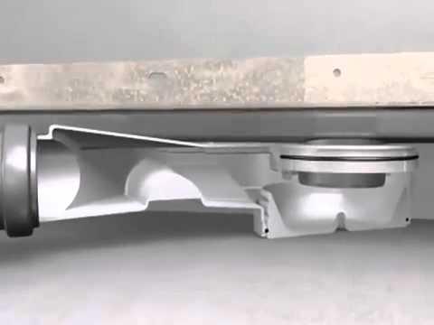 Душевой лоток Viega Advantix Basic (658984) (1200 мм) в комплекте с сифоном и ножками 4
