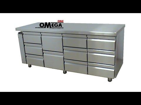Ψυγείο Πάγκος με 10 Ψυχόμενα Συρτάρια - Kühltisch Οhne Aggregat