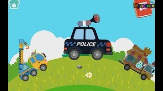 Полицейская машина, кран, танк . Мультик о машинках и не только