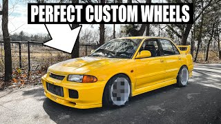 Evo III gets the PERFECT custom 3 piece wheels! by Evan Shanks