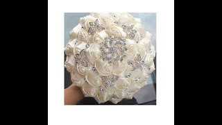 Butterflies Bridal DIY Brooch Bouquet Tutorial L Very Easy Low Cost Wedding Project L Fabric Roses