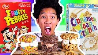Cereal Ice Cream Sandwiches?!!