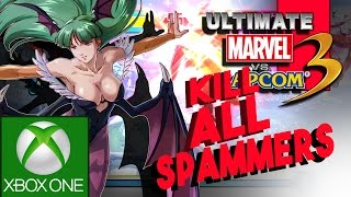 HOW TO EXPOSE A SPAMMER IN ULTIMATE MARVEL VS CAPCOM 3 FOR XBOX ONE - UMVC3 XBOX ONE ONLINE GAMEPLAY