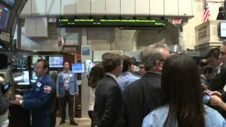 Tense trading at NY Stock Exchange