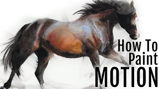 Easy Galloping Horse Painting Watercolor Tutorial